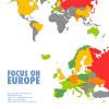 各国の男女の賃金格差がわかる、1枚のマップ。地域ごとの格差が激しい