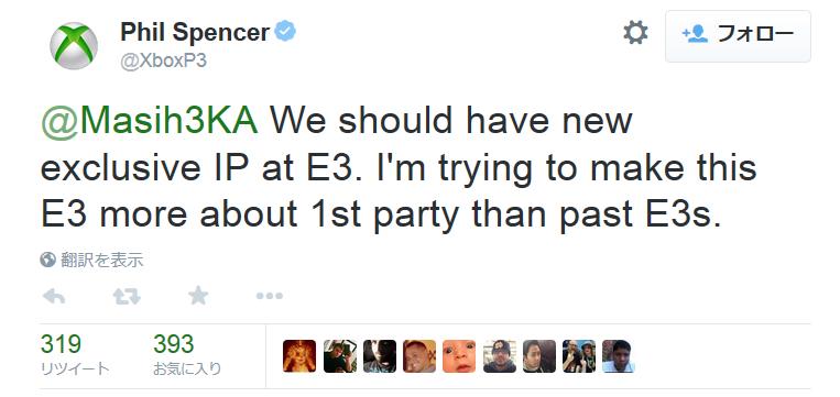 スペンサー氏はE3での独占新作を予告