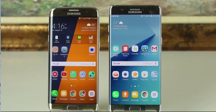 Galaxy Note 7とGalaxy S7 edgeを比較した動画が公開。外見、USB,C、画面比較など