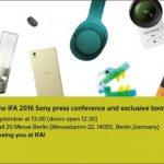 新型Xperiaの発表も。ソニーがIFA2016プレスカンファレンスの招待状を配布