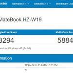 Huawei MateBook M5のCPU性能ベンチマークスコアが公開。MacBook Air 15年モデルやiPad Pro、Surface Pro 3と同等レベル
