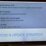 ソニー・スロベキアがXperia各機種のAndroid Nougatアップデート日程を公開。XZ10月、XC11月、Z5シリーズ12月