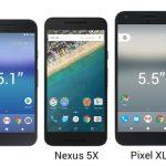 グーグルPixel・Pixel XL、Nexus6P/5Xとのサイズ比較図とCPUベンチマークが公開