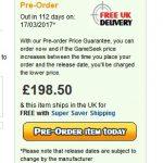 イギリスの通販サイトがNintendo Switchの価格を掲載。198.5ポンド(およそ27,950円)