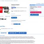 Nintendo Switchの価格がトイザらスの通販ページに掲載。約2万6000円