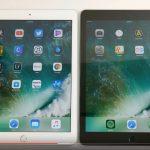 iPad (2017) vs iPad Pro 9.7の比較。iPad 2017は意外とディスプレイきれい。アプリ起動もiPad Proより早い