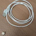 【レビュー】Micro USBポートで向きを気にしなくてよくなる「dodocool Micro USB磁力ケーブル」。80点